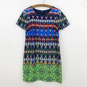 J Crew Gemstone Floral Silk Short Sleeve Dress